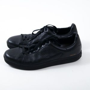 Tom Ford Warwick Black Grained Leather Sneakers